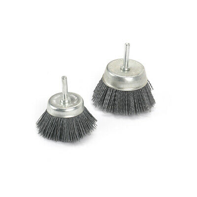 "2"" 3"" Cup-shaped Abrasive Nylon Wire Brush Polishing Rotary Tool 1/4"" Shank 2Pcs"