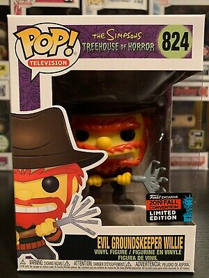 Funko Pop Television The Simpsons # 824 Evil Groundskeeper Willie 2019 NYCC