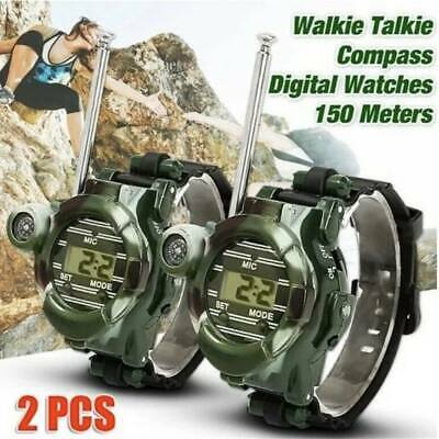 2Pcs Useful Outdoor Compass 7 in 1 Walkie Talkie Camouflage Style Night Light
