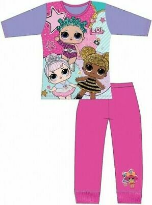 LOL Surprise Pyjamas Childrens Kids Girls Pink Purple Blue PJs Age 4-10 Years