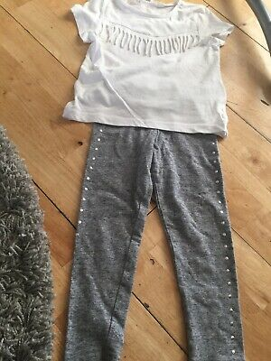 Girls Outfit Next H&M Leggings And Top Aged 3