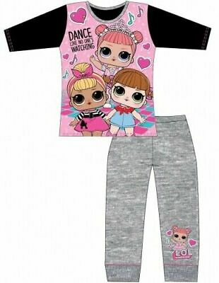 LOL Surprise Pyjamas Childrens Kids Girls Pink Black Grey PJs Age 4-10 Years