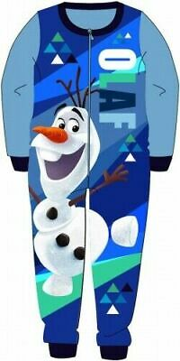 Disney Frozen Pyjamas Childrens Kids Blue One Piece PJs Age 18 Months - 5 Years
