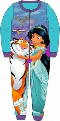 Disney Aladdin Pyjamas Childrens Kids Blue One Piece PJs Age 18 Months - 5 Years