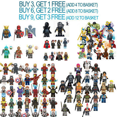 Custom Mini figures Marvel Avengers DC Iron Man Thor Big Ninjago Heroes Blocks