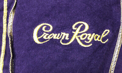 "Lot of 15 - Original Crown Royal Purple Felt Drawstring Bag 9"" x 5"" x 3"""