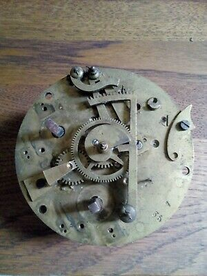 Antique french 8 day Clock  Movement - HP & Co. Paris ( spares or repair only)