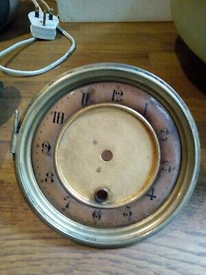 Genuine Antique French Brass Clock Beze with Enamel Dial