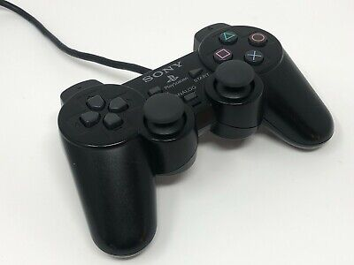 Official Sony PlayStation DualShock 2 Controller / Game Pad - Black - PS1 / PS2