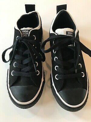 Converse Chuck Taylor Black White Youth Boys Girls Kids Shoes Size 11