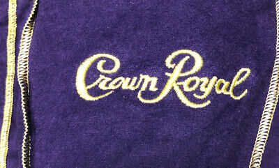 "Lot of 100 - Original Crown Royal Purple Felt Drawstring Bag 9"" x 5"" x 3"""