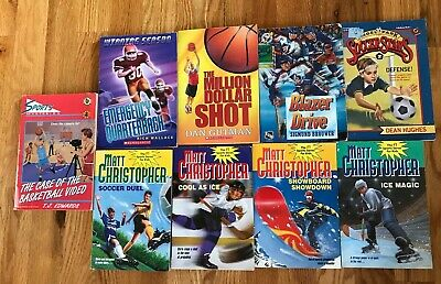 Lot of 9 SPORTS Chapter Books Soccer Hockey Football Boys Baseball Christopher +