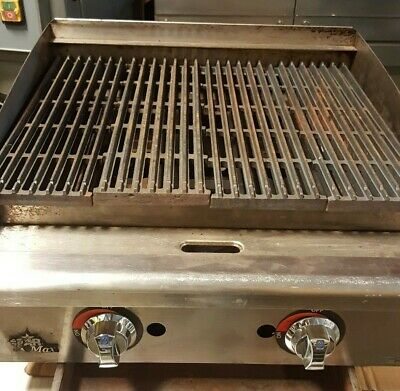 """24"""" STAR-Max Gas Char-broiler 2 Burners Radiant Grill Used"""