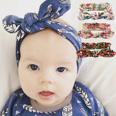 ALS_ Baby Girls Kids Toddler Floral Bow Knot Hairband Headband Turban Head Wrap