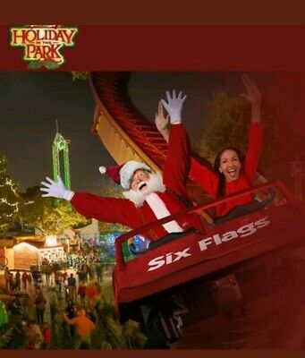 Four (4) Six Flags Email delivery Tickets 2019 HOLIDAY in the PARK til 12/31