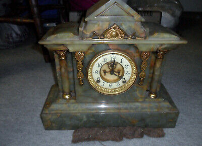 Victorian French syle Mantel Clock Marble