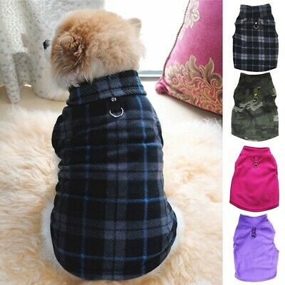 Small Pet Dog Fleece Harness Vest Puppy Warmer Sweater Coat Shirt Jacket Apparel