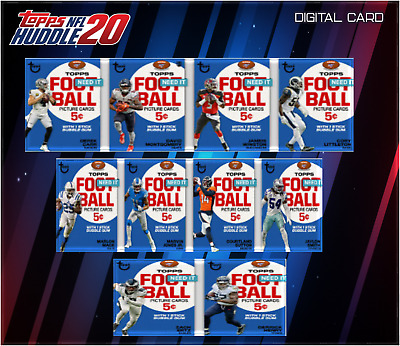 19-20 TOPPS PICTURE CARDS COMPLETE SET OF 10 CARDS  Topps Huddle Digital Card