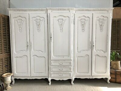 Vintage French Armoire/5 Door French Wardrobe / Painted Shabby chic style (VB592