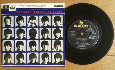 THE BEATLES - A HARD DAY'S NIGHT EP Mono  GEP 8920 7TCE 833-2N 832-1N  best