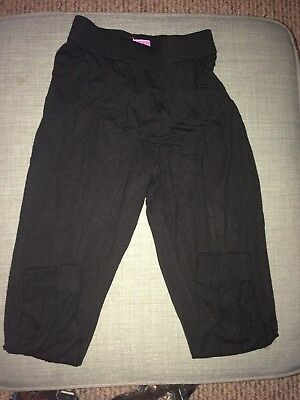 Girl's F&F Black Stretchy Trousers Aged 6-7