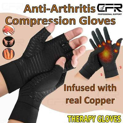 Copper Arthritis Gloves Rheumatoid RSI Carpal Tunnel Compression Hands Joints UK