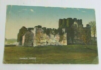 Mumbles Castle  - old postcard (1927)