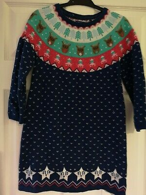 Girls Christmas Jumper Dress From Tu Age 5 To 6 Years
