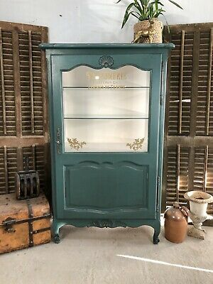 Antique French Cabinet/ Painted Shabby chic style/ Bookcase (VB586)