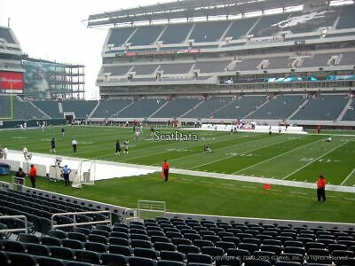 NFL Philadelphia EAGLES vs New England PATRIOTS - 2 TICKETS - Sect 123, Row 24