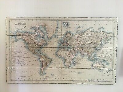 Laura Ashley wall hanging print picture - old map of the world