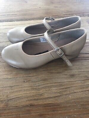 Bloch Tan Leather Tap Dance Shoes - Size4 (Youth)