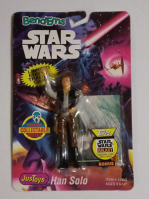 Star Wars Bend-ems Han Solo with Death Star trading card made by Just Toys