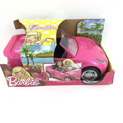 Barbie Convertible Pink Car Kids Toys DVX59 Sparkle Mattel Glam Sports Car NEW