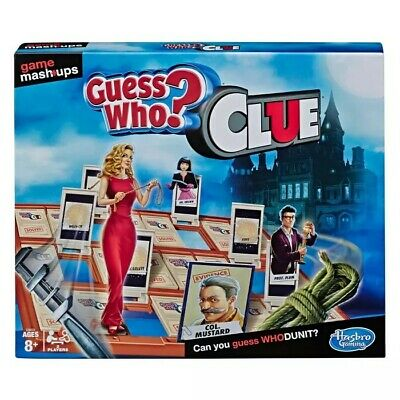 Guess Who? Clue Game Mashups Hasbro Gaming Party Family Fun Kids Board Game   PM