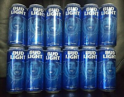 6 Empty Post Malone 2019 Special Edition Texas Bud Light Cans Pull Tab Unopened