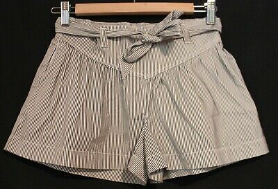 COUNTRY ROAD ~ Girls White Black Striped Cotton Blend Summer Skorts shorts 12