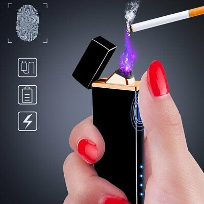 Dual Arc Electric USB Lighter Flameless Cigarette Lighters Rechargeable Men Gift