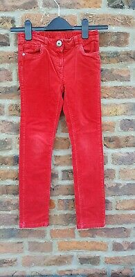 🎅🎅 CHRISTMAS Next Red Skinny Cords Trousers Girls 9y