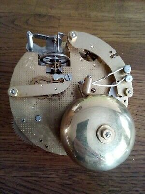FRANZ HERMLE FLOATING BALANCE TING TANG TWIN BELL CLOCK MOVEMENT 130-070 working
