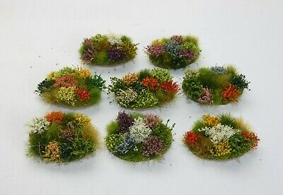 Howard Scenic Supplies - Flower Patches x 8 for Model Railway Scenery 00/HO