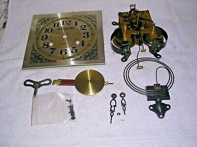 Clock  Parts ,  Movement ,Face, ,  Hands, Pen &Key