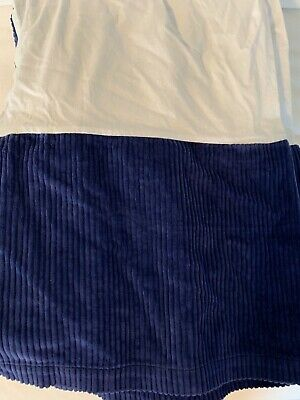 Pottery Barn crib skirt - royal blue corduroy