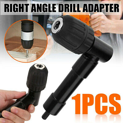 90° Right Angle Angled Drill Attachment Adapter Aluminium Metal Keyless Chuck Uk
