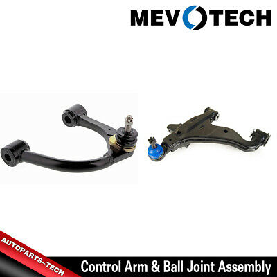 Pair Set 2 Front Lower Ball Joints Mevotech For Cadillac GMC Steel Control Arms