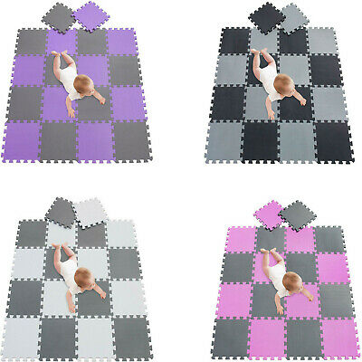 20Pcs Eva Foam Mat Soft Tiles Floor Interlocking Play Kids Baby Mats Gym 30X30cm