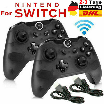 Wireless Bluetooth Pro Controller Gamepad Ladekabel Für Nintendo Switch Use DE