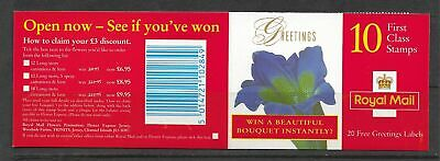 Qe2 1997 Flowers Greetings Booklet Kx10 Booklet Complete