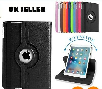 Leather 360 Degree Rotating Smart Stand Flip Case Cover for All iPad Models