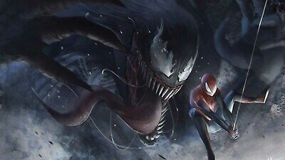 Marvel Venom And Spider Man Poster Print T1726 |A4 A3 A2 A1 A0|